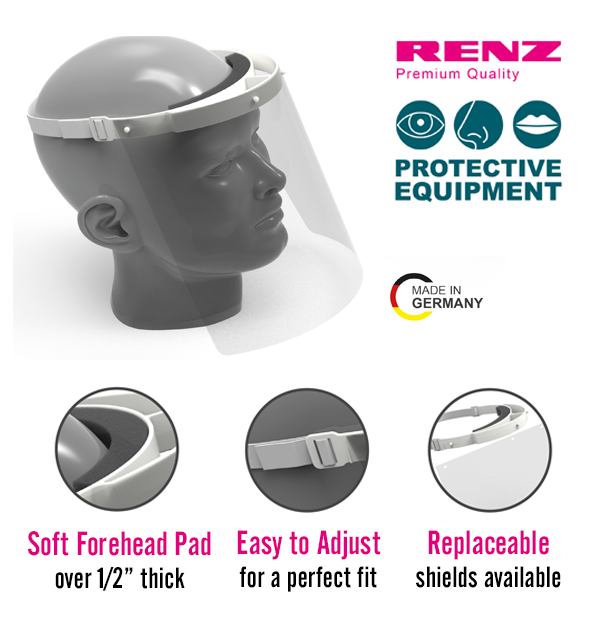 Renz Protective Face Shield (1 Head Strap/1 Face Shield